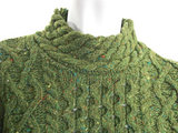 Claddagh cable sweater meadow green