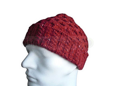 Luxe Aran hat red