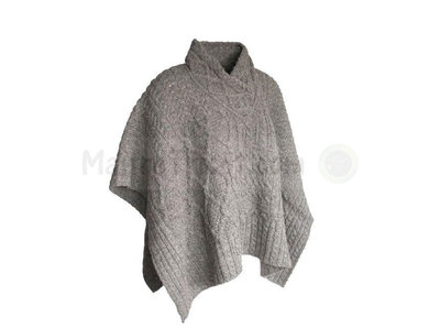 Ladies V neck poncho wolf hound
